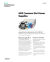 HPE Common Slot Power Supplies data sheet
