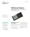HPE Server Memory with HPE Qualified Memory, purpose-built for HPE ProLiant servers data sheet