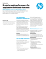 Breakthrough performance for application workload demands with HP 6G SATA Value Endurance (VE) Solid State Drives solution brief