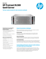 HPE ProLiant DL580 Gen9 Server is the four-socket standard for data-intensive workloads data sheet