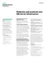 Modernize and accelerate your SQL Server infrastructure solution brief
