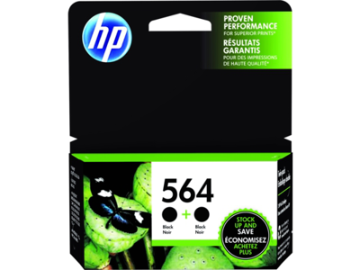 hp 564 black original ink cartridges c2p51fn pack of 2 by office depot officemax. Black Bedroom Furniture Sets. Home Design Ideas