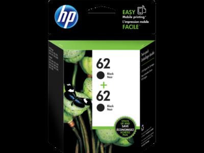 HP 62 2-pack Black Original Ink Cartridges