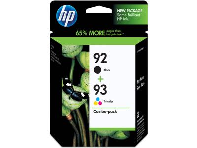 HP 92 Black/93 Tri-color 2-pack Original Ink Cartridges