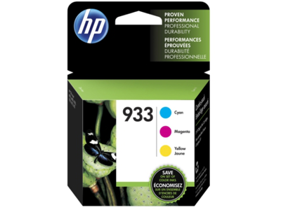 HP 933 3-pack Cyan/Magenta/Yellow Original Ink Cartridges
