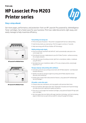 APJ Datasheet for HP LaserJet Pro M203 Printer series (English Version) (English)