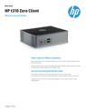 HP t310 Zero Client Data Sheet
