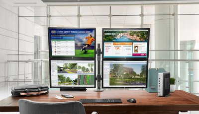 HP Inc  t730 - Thin client - tower - 1 x RX427BB 2 7 GHz - RAM 4 GB - flash  16 GB - Radeon HD 9000 - GigE - ThinPro 32-bit - monitor: none