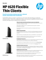 HP t620 Flexible Thin Client Datasheet