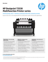 HP DesignJet T2530 Multifunction Printer series Datasheet