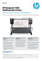 HP DesignJet T830 Multifunction Printer Datasheet (English)