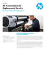 HP Maintenance Kit Replacement Service for DesignJet Printers
