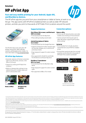 HP ePrint App data sheet