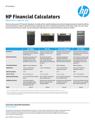 HP Financial Calculators Comparison Sheet