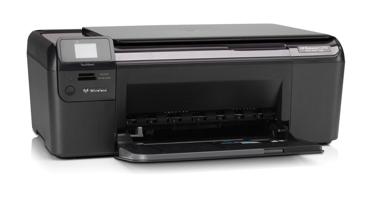 HP Photosmart C4780 Q8380A All-In-One Color Inkjet Printer - 4800 x 1200  Optimized dpi, 29 ppm Mono, 23 ppm Color, USB, 64 MB, Wi-Fi at  TigerDirect.com