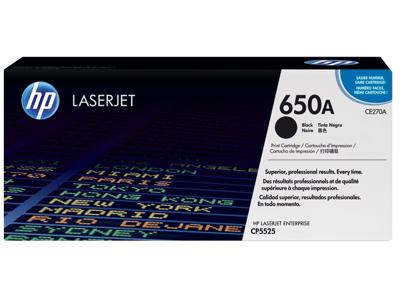 HP 650A Black Original LaserJet Toner Cartridge