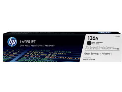 HP 126A 2-pack Black Original LaserJet Toner Cartridges