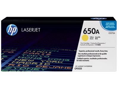 HP 650A Yellow Original LaserJet Toner Cartridge