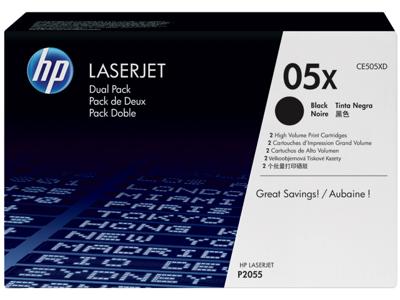 HP 05X 2-pack High Yield Black Original LaserJet Toner Cartridges