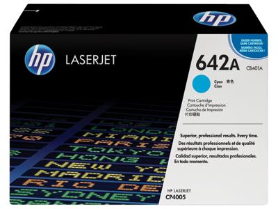 HP 642A Cyan Original LaserJet Toner Cartridge