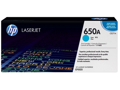 HP 650A Cyan Original LaserJet Toner Cartridge