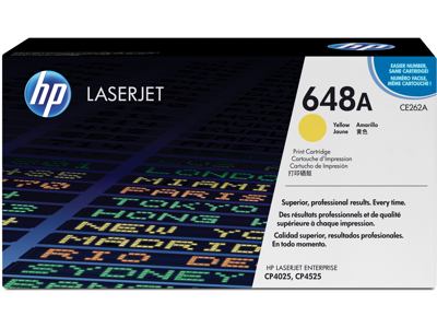 HP 648A Yellow Original Toner Cartridge CE262A by Office Depot ...