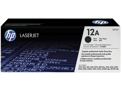 HP 12A Black Original LaserJet Toner Cartridge
