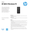 HP 280 G1 Microtower Desktop PC Datasheet