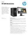 HP Z840 Workstation Datasheet (AMS English)