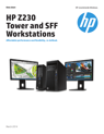 HP Z230 Tower and SFF Workstations