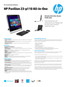 HP Pavilion 23-p110 All-in-One