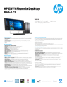 HP ENVY Phoenix Desktop 860-121