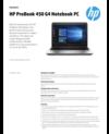 AMS HP ProBook 450 G4 Datasheet
