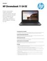 AMS HP Chromebook 11 G4 EE Datasheet