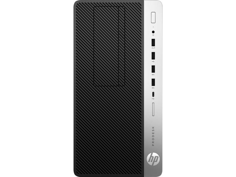 HP Inc  ProDesk 600 G4 8th Gen Intel Core i3-8100 Quad-Core 3 60GHz  Microtower PC - 4GB DDR4-2666 SDRAM, 500GB 7200rpm SATA HDD, Integrated  Intel UHD