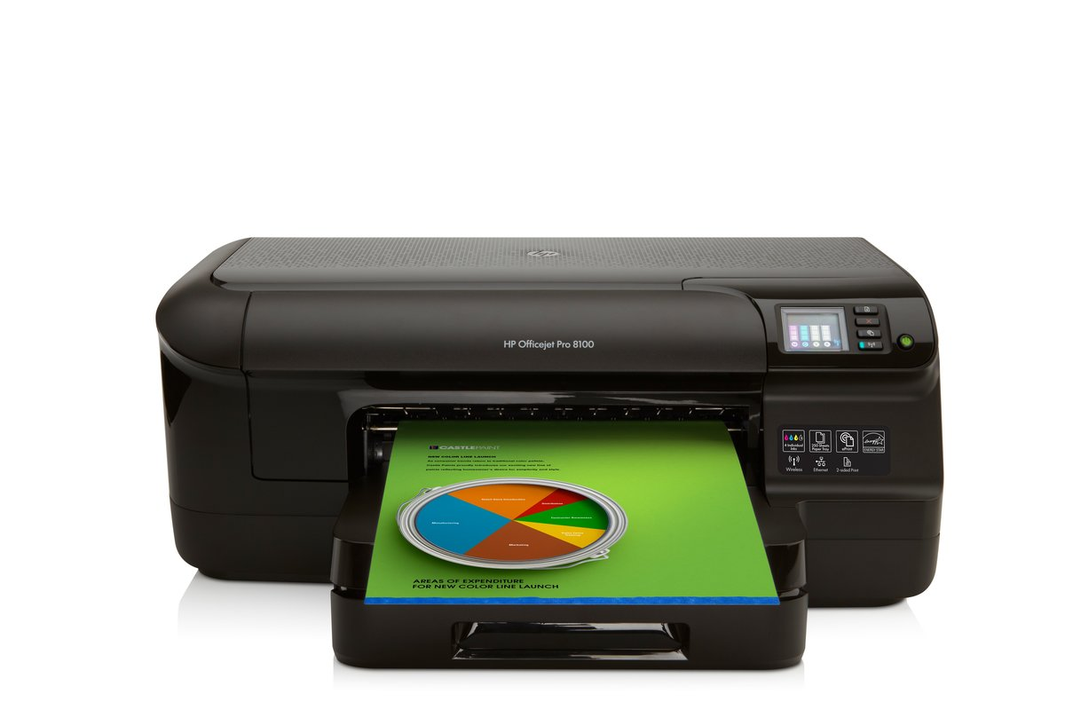 HP Officejet Pro 8100 CM752A Wi-Fi Color Inkjet Printer - 4800 x 1200 dpi  Print, Plain Paper Print, Desktop (CM752A#B1H) at TigerDirect.com