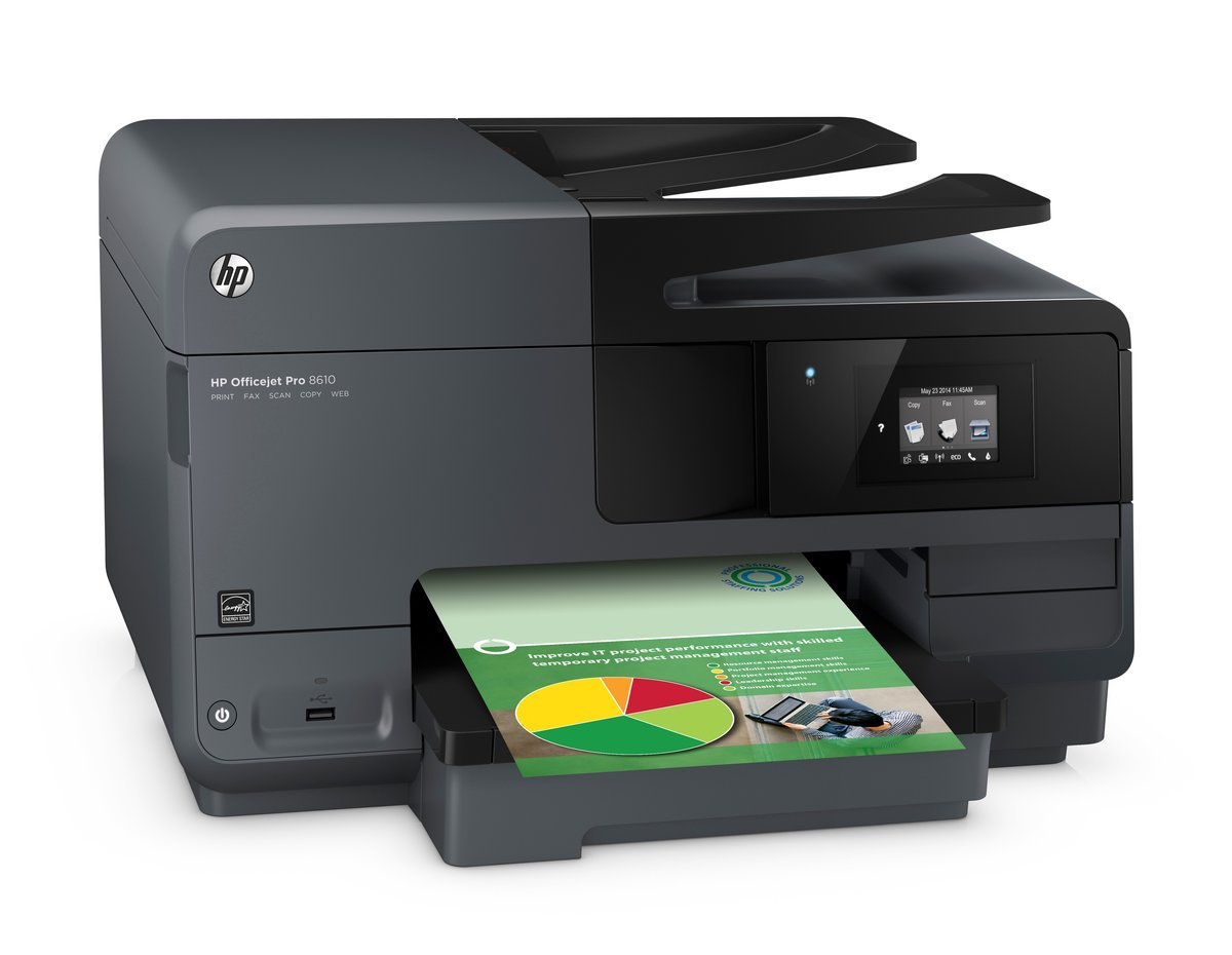 Color printing office depot - Hp Officejet Pro 8610 Wireless E All In One Printer Scanner Copier Fax By Office Depot Officemax