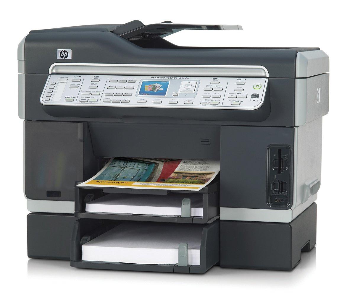 HP Officejet Pro L7780 All-in-One Color Inkjet Printer - 4800 dpi, 35 ppm,  Wi-Fi, USB, 192 MHz at TigerDirect.com