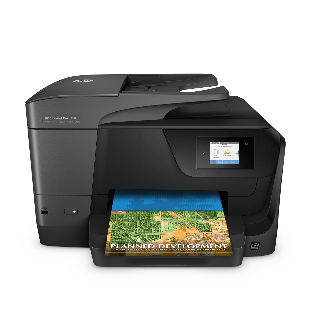 Color printing office depot - Hp Officejet Pro 8710 All In