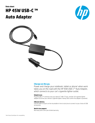 HP 45W USB-C? Auto Adapter (English)