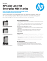 HP Color LaserJet Enterprise M651 Printer series