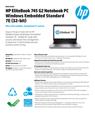 HP EliteBook 745 G2 Notebook PC Windows Embedded Standard 7E (32-bit)