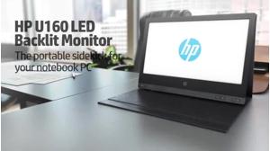 slide {0} of {1},zoom in, HP U160 15.6-inch LED Backlit Monitor