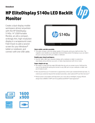 HP EliteDisplay S140u 14-inch USB Portable Monitor