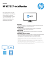 HP V272 27-inch Monitor(English(AMS))