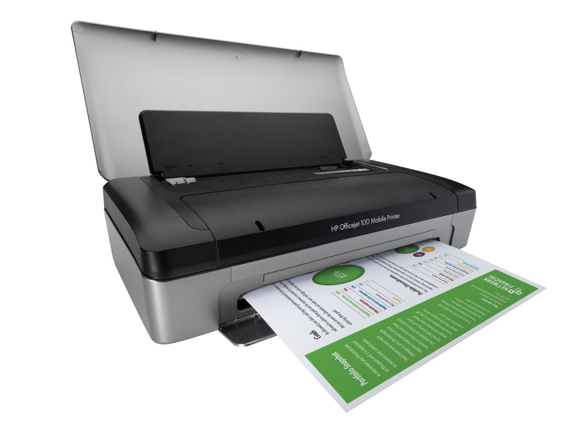 HP Officejet 100 CN551A Mobile Inkjet Printer - Up to 600 x 600 dpi, Up to  4800 x 1200 optimized dpi color, Bluetooth-Enabled (CN551A#B1H) at  TigerDirect. ...