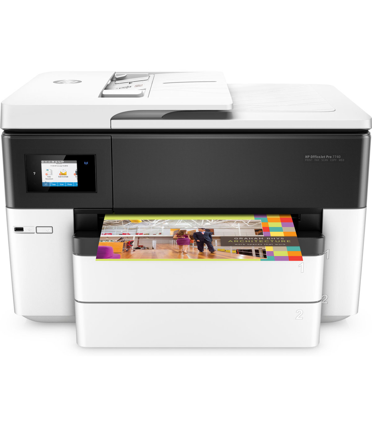 Hp m750 color printing cost per page - Be Best 11x17 Color Laser Printer Reviews Hp Officejet Pro 7740 Wireless Color 11 X