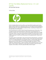 HP One Time Battery Replacement Service - U.S. and Canada data sheet