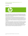 HP One Time Battery Replacement Service - U.S. data sheet