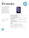 HP Pro Tablet 408 G1 Datasheet
